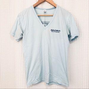 ADPi Alpha Delta Pi light blue t shirt top size S